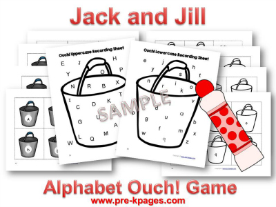 Fun Jack and Jill Alphabet Game for Preschoolers