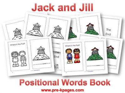Jack and Jill Printable Book for Preschoolers