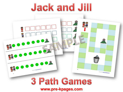 Jack and Jill Printable Games to Build Number Sense in Preschool
