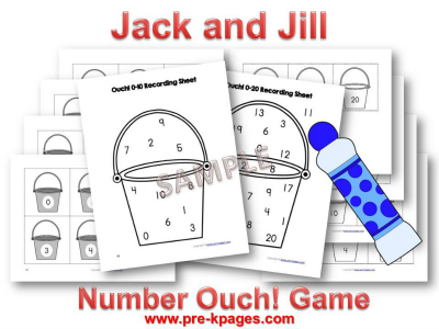 Jack and Jill Theme Printable Number Identification Game