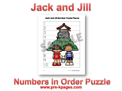 Printable Jack and Jill Number Puzzle