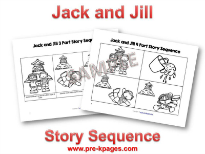 Printable Sequence Pictures for Jack and Jill Nursery Rhyme