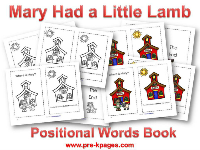 Pre K Pages Nursery Rhymes Mary Had A Little Lamb