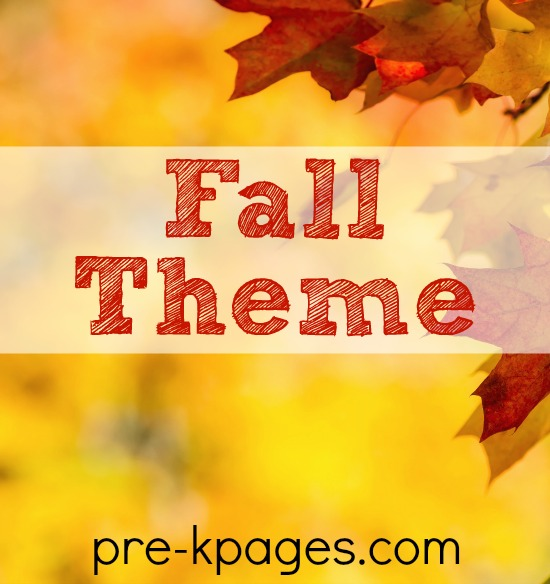 Fall Theme Activities for Preschool