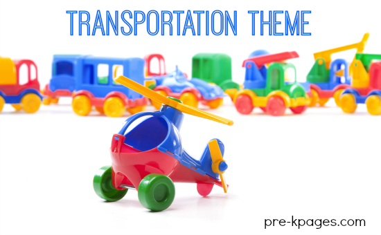 Transportation Preschool Theme Activities