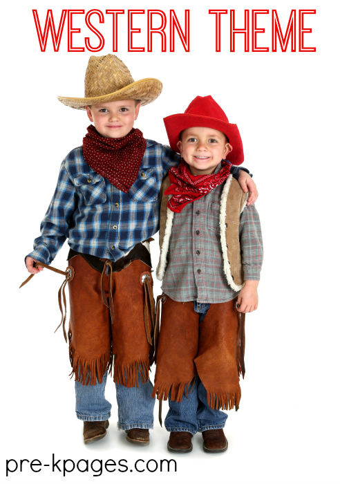 Western Cowboy Theme Learning Activities for Preschool and Kindergarten