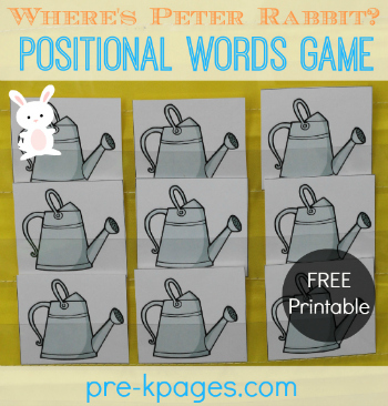 Free Printable Where's Peter Rabbit? Game for #preschool and #kindergarten
