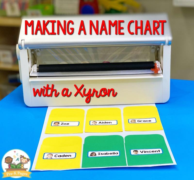 Make a Name Chart with a xyron