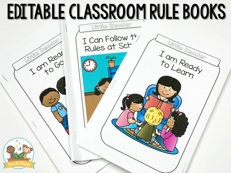 Simple Design Classroom Rules for Preschool, Pre-K, and ... | 598x800