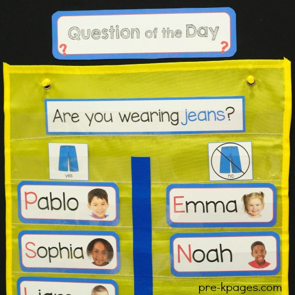 Printable Question of the Day Packet for Preschool and Pre-K