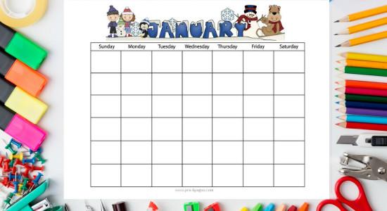 Printable Classroom Calendars