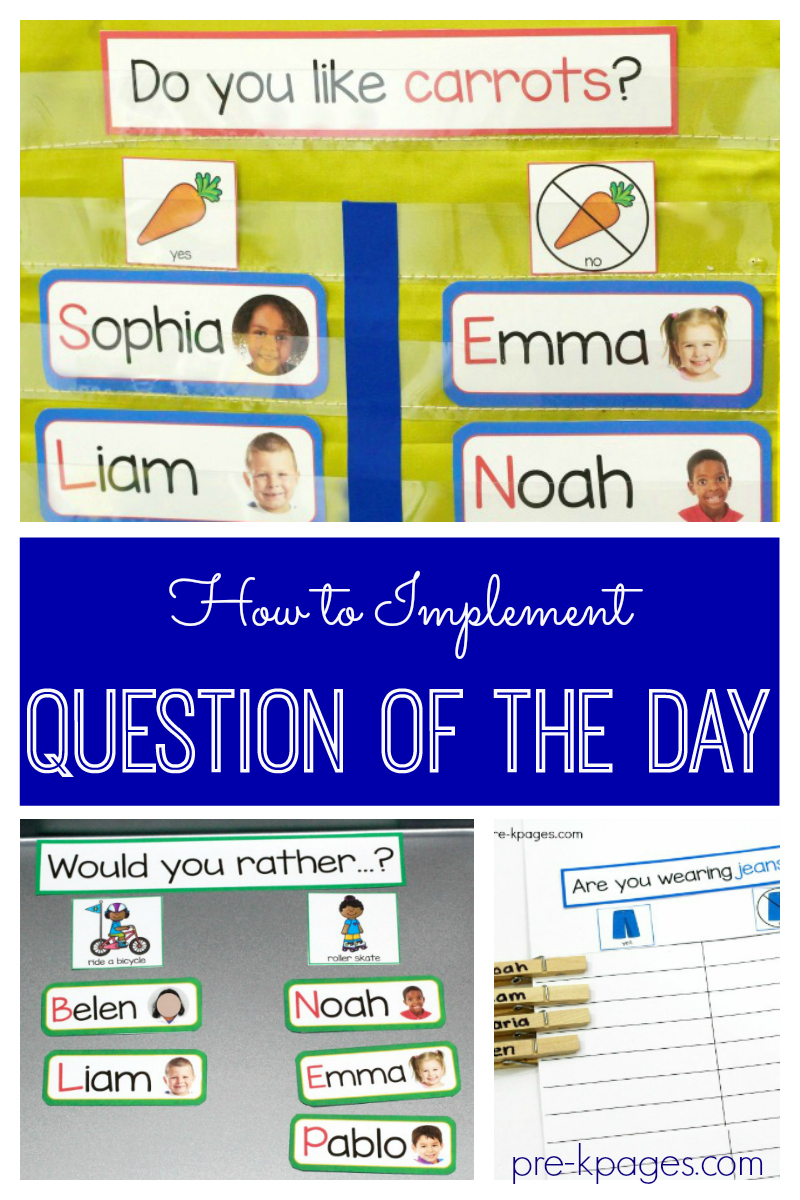 question of the day for preschool
