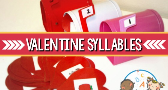 Valentine Syllable Game for Preschool