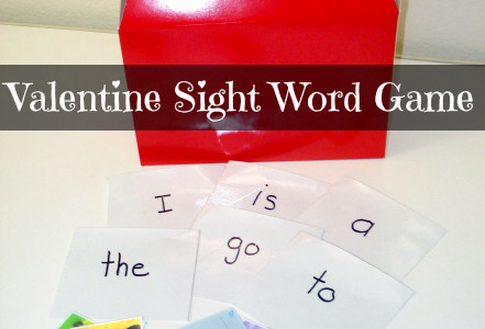 Valentine Card Sight Words