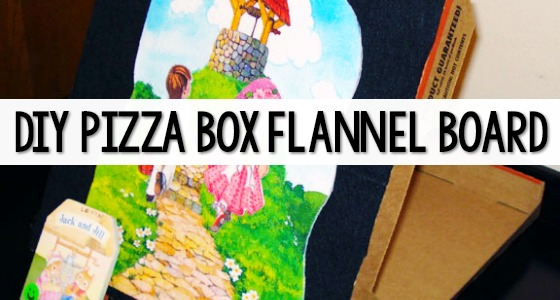 Pizza Box Flannel Board