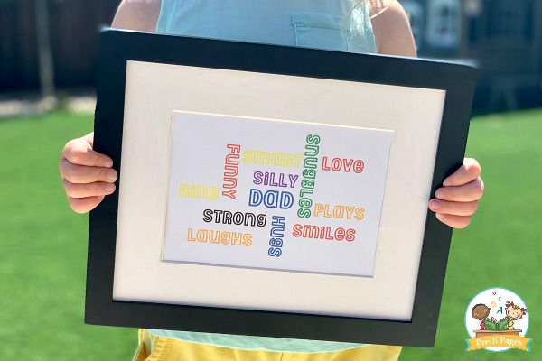 Easy Fathers Day Framed Gift Kids Can Make