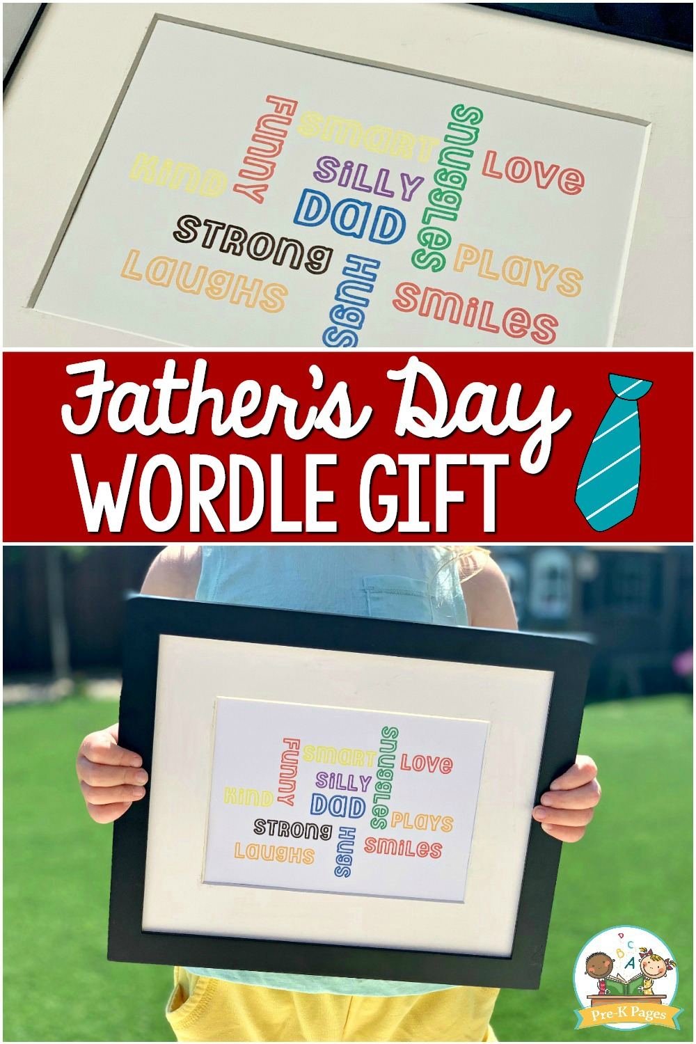 Easy Fathers Day Wordle Gift