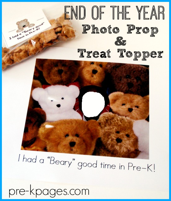 End of the Year Treat Topper and Photo Prop
