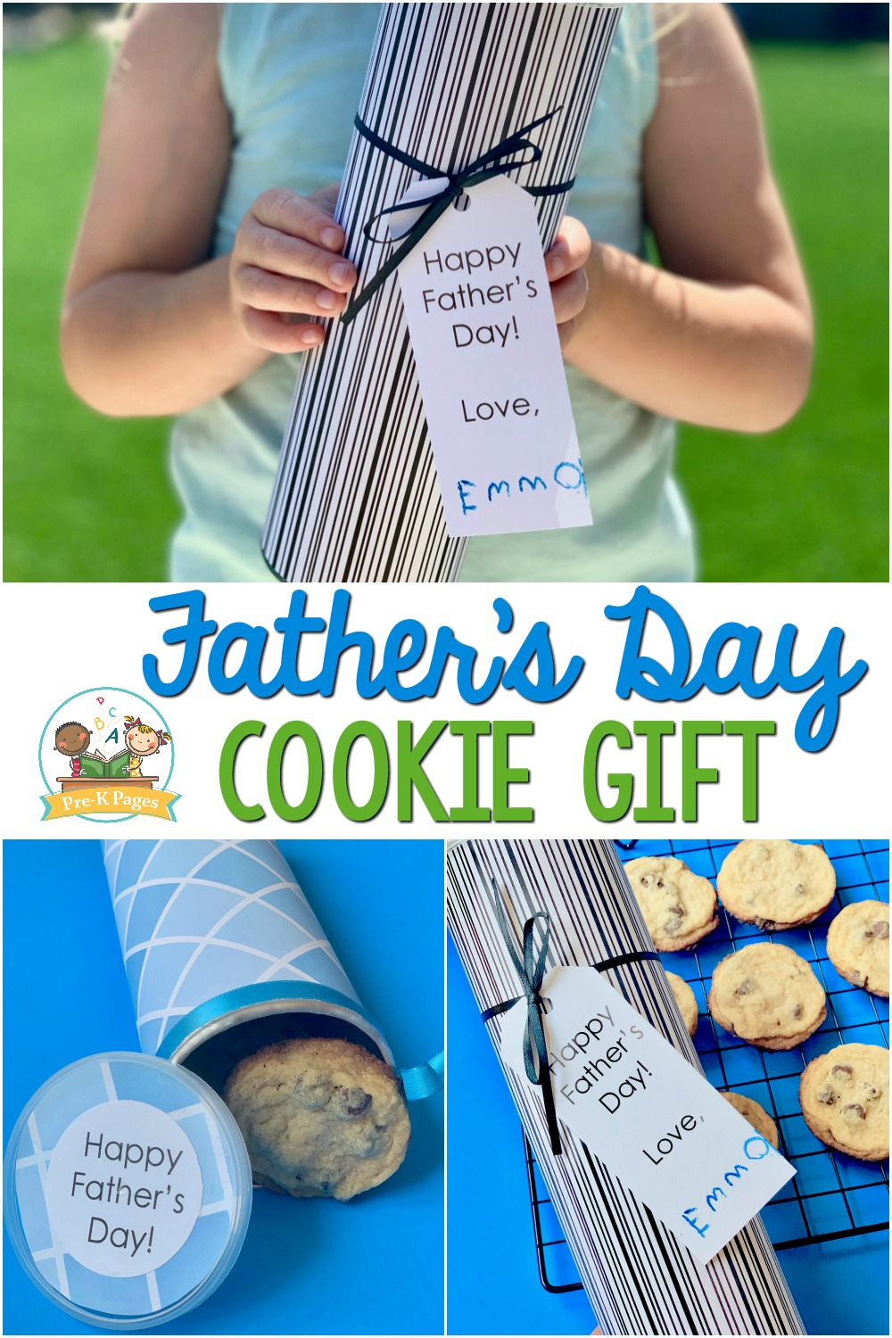 Cookie Gift for Fathers Day from Kids
