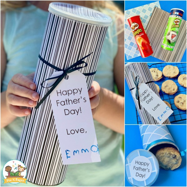 Fathers Day Cookie Gift from kids
