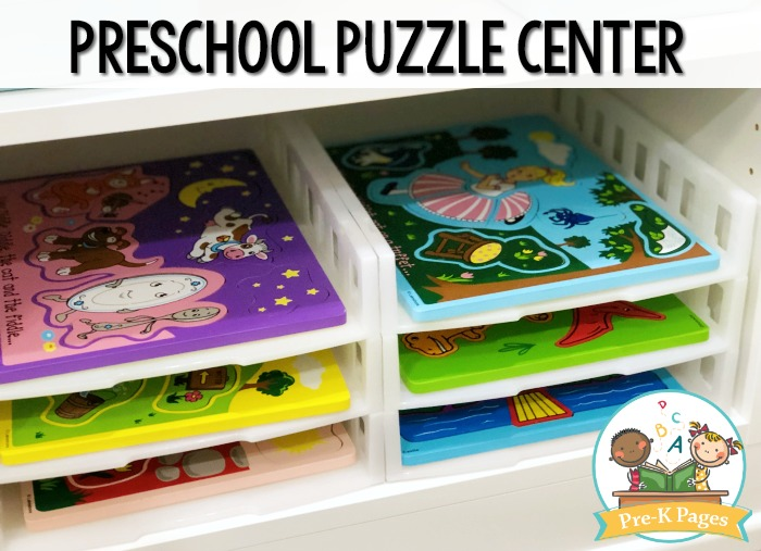 Puzzle Rack for Preschool