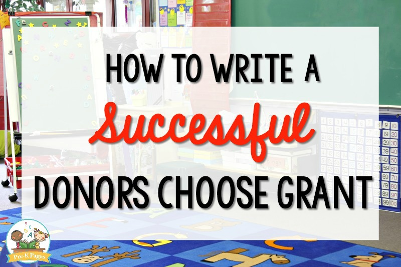 How to Write a Successful Donors Choose Grant