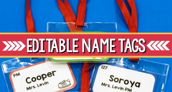 Editable Student Name Tags for Pre-K and Preschool