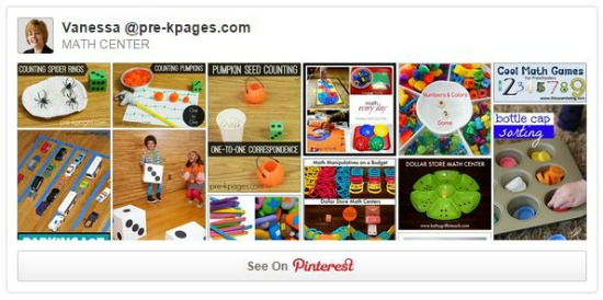 Pinterest Math Center Ideas
