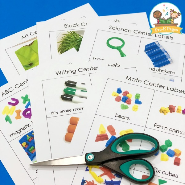 Center Labels for Preschool