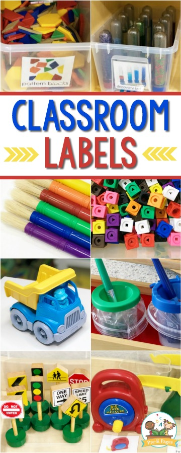 Classroom Labels for Preschool