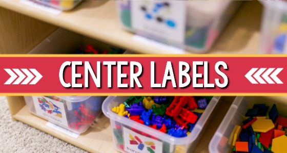 Printable Classroom Labels for Preschool