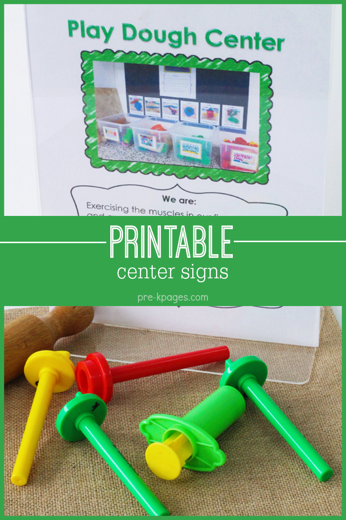 Printable Center Signs for Preschool and Kindergarten