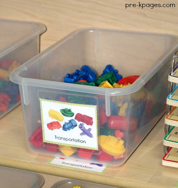 Printable Tub Labels for Preschool Classroom Storage Bins