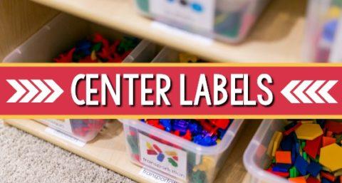 Preschool Center Shelf Labels