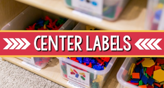 Preschool Center Shelf Labels