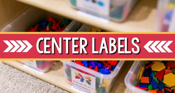 Printable Classroom Labels for Preschool
