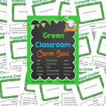 Printable Green Classroom Center Signs
