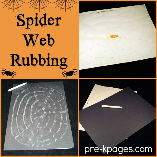 Spider Web activityRubbing for Preschoolers