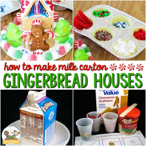 How to Make Gingerbread Houses for Preschool