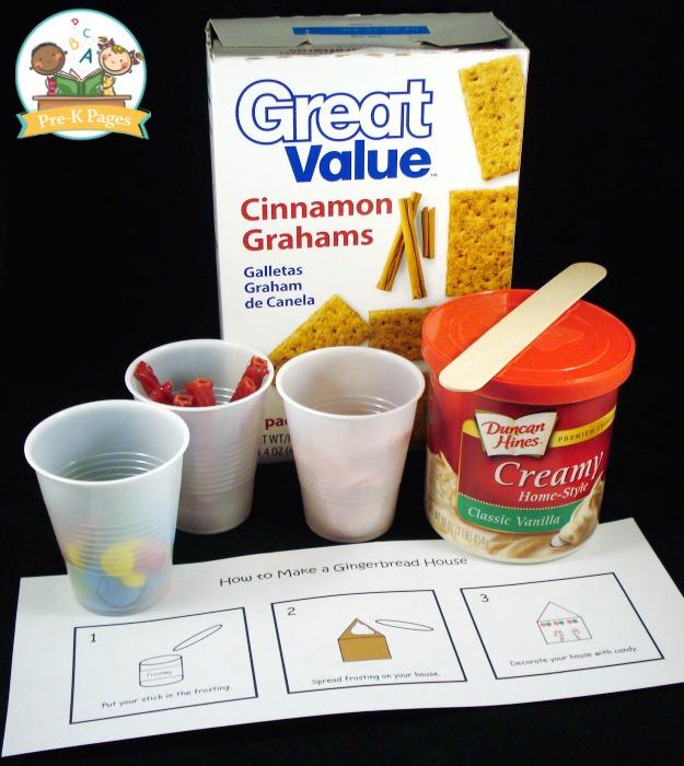 Milk Carton Gingerbread House Supplies