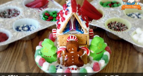 Easy Milk Carton Gingerbread Houses