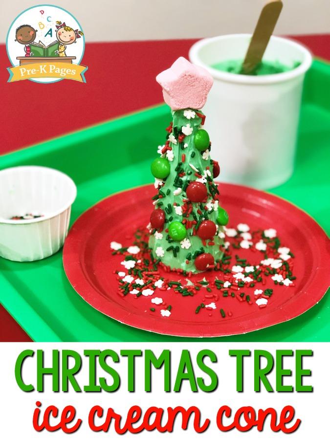 Christmas Tree Cone Project in Preschool