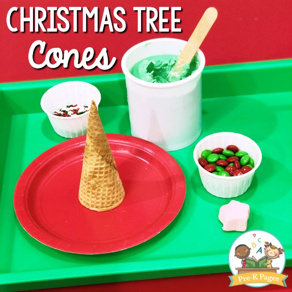 Christmas Tree Cones in Preschool