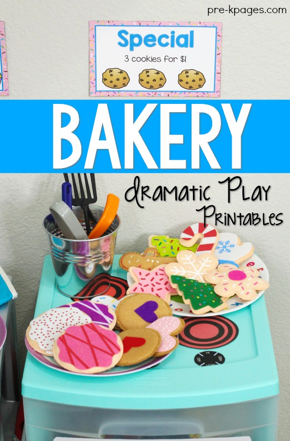 Bakery Pretend Play Printables for Preschool