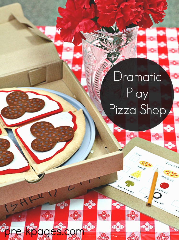 Dramatic Play Pizza Shop Printables
