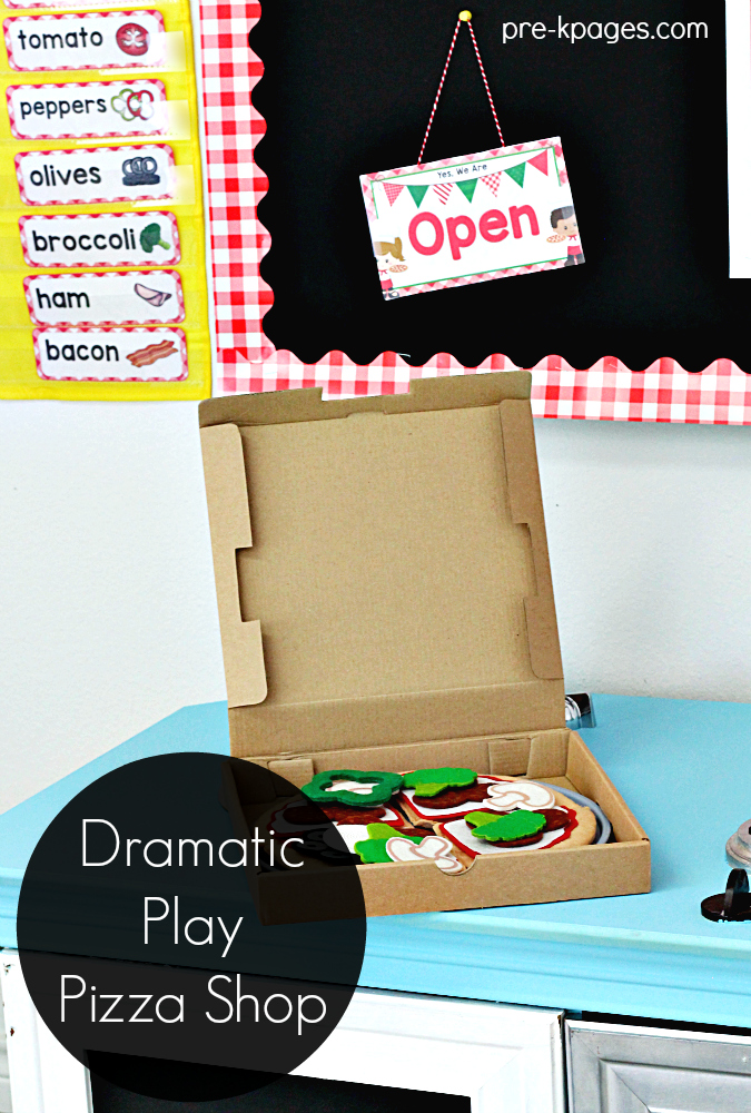 Dramatic Play Pizza Shop for Preschoolers