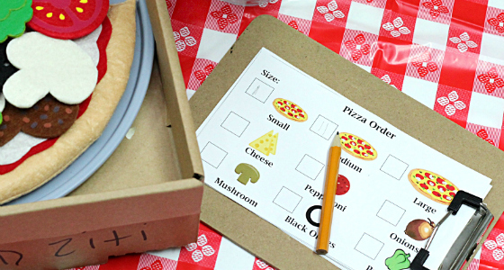 Dramatic Play Pizza Shop Printable
