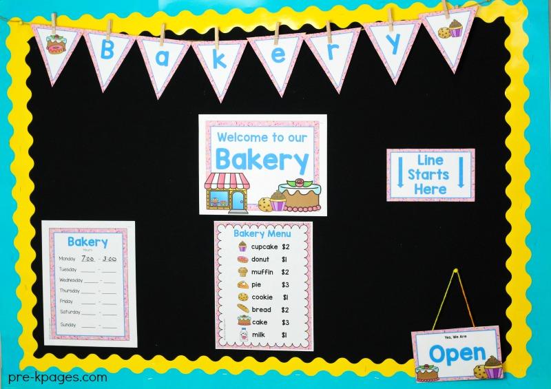 picture regarding Corner Bakery Printable Menu known as Bakery Remarkable Enjoy Centre within Preschool