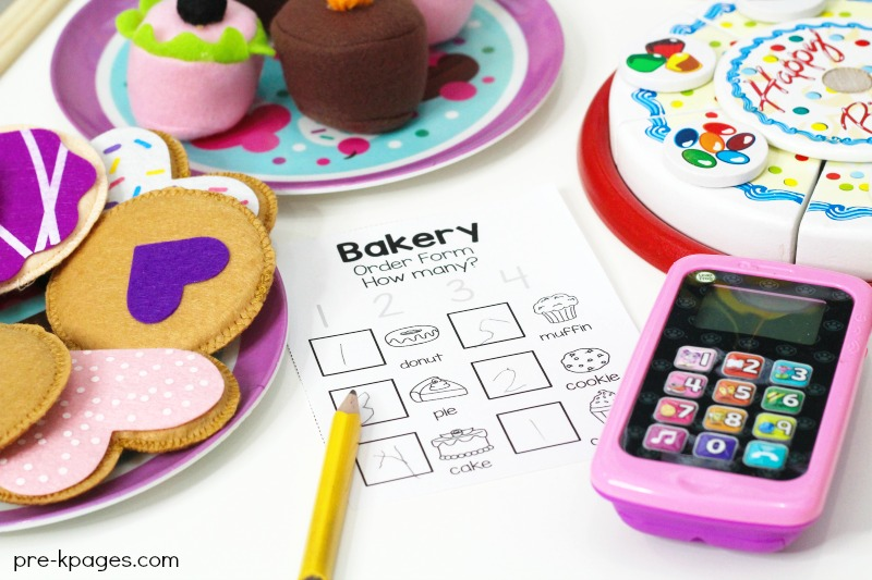 Bakery Dramatic Play Printable Order Form
