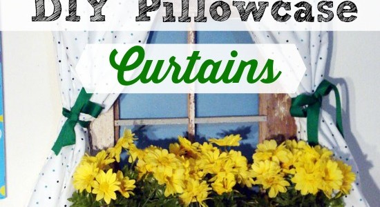 DIY Dramatic Play Pillowcase Curtains